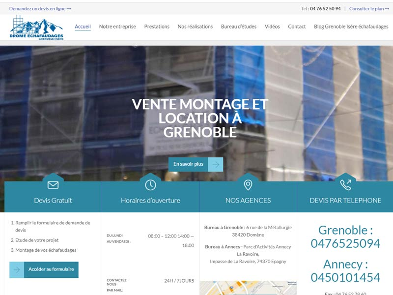 Location vente echafaudages Drome