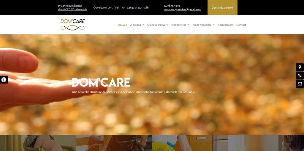 Aide à domicile Grenoble et service à la personne DOM'CARE